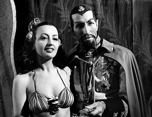 Charles Middleton (actor) - Carmen D'Antonio and Charles Middleton as Ming the Merciless in the third sequel of the production, Flash Gordon Conquers the Universe