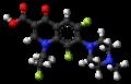 Fleroxacin molecule ball.png