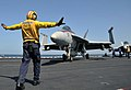 Flickr - Official U.S. Navy Imagery - A Sailor directs a jet on the flight deck. (1).jpg