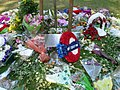 Floral tributes for 7th July, Russell Square WC1 - geograph.org.uk - 1307511.jpg