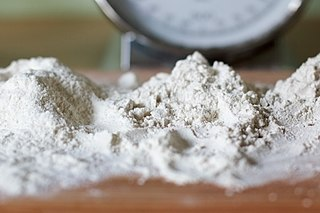 Flour Powder made by grinding cereal grains
