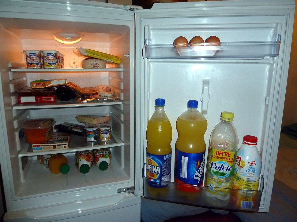 Food into a refrigerator - 20111002