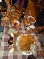 Food spread at an Ethiopian restaurant, Addis Ababa.JPG