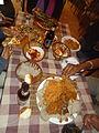 Food spread at an Ethiopian restaurant, Addis Ababa.JPG
