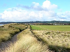 Footpath behind the dunes at Morfa Abererch - geograph.org.uk - 1074842.jpg