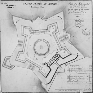 Fort Morgan (Alabama) - Original plan for the fort, dated 1817.
