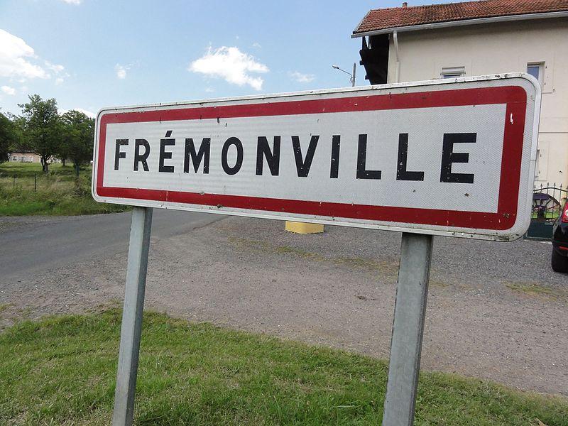 Frémonville (M-et-M) city limit sign