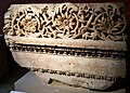Fragment of an entablature from the courtyard colonnades at the sanctuary of Jupiter in Baalbek, Lebanon. 2nd century CE. Limestone. Pergamon Museum, Berlin, Germany.jpg