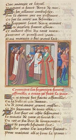Français 5054, fol.  86, Conférences d'Arras (1435) .jpg