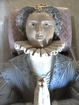 Thomas Kitson - Frances Kitson, wife of John Bourchier, Lord FitzWarin. Detail from her monument in Tawstock Church, Devon