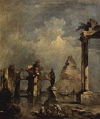 Capriccio with Pyramid