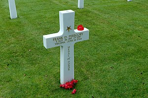 Frank D. Peregory - Gravestone at the Normandy American Cemetery and Memorial