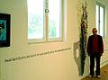 Frank Popp, Gruppe 7 in Hannover, Spruchband und Installation Hallo, Kurt Schwitters ... im SofaLoft, Zinnober-Kunstvolkslauf 2012.jpg