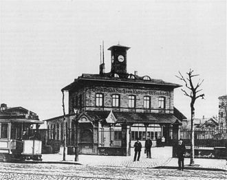 Frankfurt–Offenbach Local Railway - Frankfurt Lokalbahn station in 1900