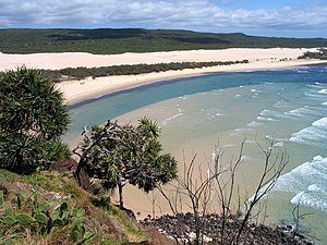 Vy från Indian Head, Fraserön, Queensland, Australia