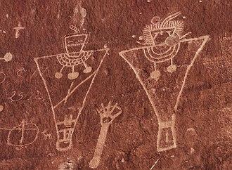 Thompson Springs, Utah - Fremont petroglyphs in Sego Canyon