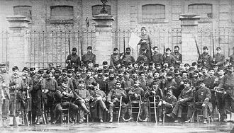 Siege of Paris (1870–71) - A company of the French National Guards