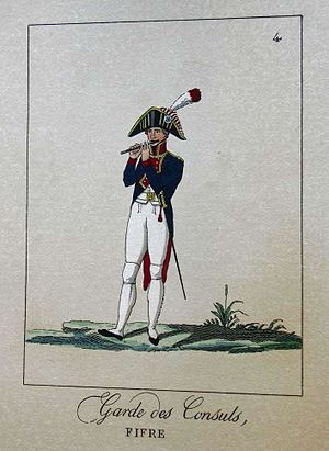 Fifer - A fifer from the French Consular Guard, 1801.