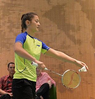 Gronya Somerville Badminton player