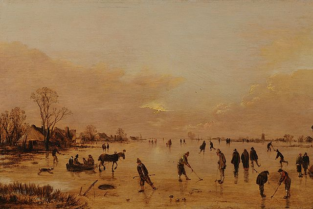 kolf played on ice (17th century oil painting) – History of Golf
