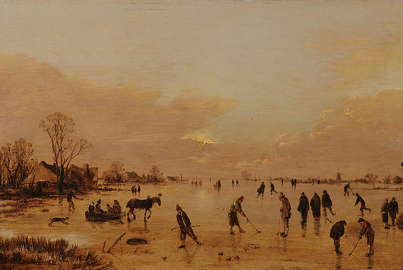 Oil Painting of Kolf by Aert van der Neer