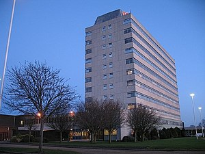 Fujitsu - The Fujitsu office in Bracknell, United Kingdom, formerly an ICL site and opened by HM the Queen in 1976
