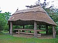 Furzey Gardens, Thatched shelter - geograph.org.uk - 1408001.jpg