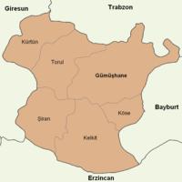 Gümüşhane location districts.png
