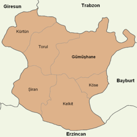 Gümüşhane location districts.png