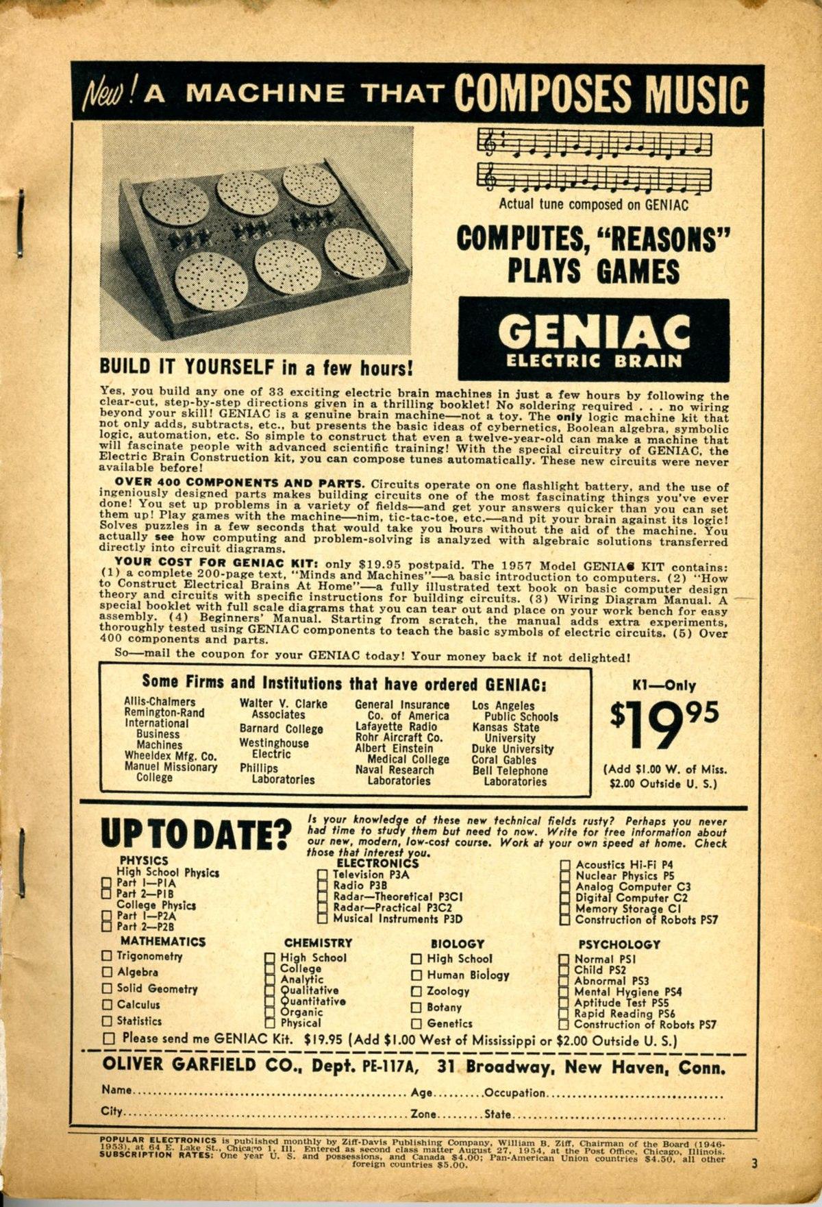 Geniac Wikipedia Allis Chalmers B Wiring Harness
