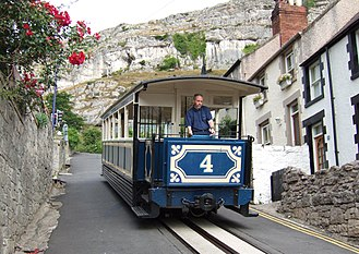 Great Orme Tramway - Image: GOT Tram 4 Descending 05 07 17 04