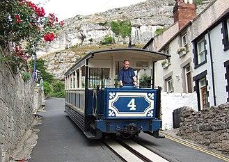 3 ft 6 in gauge railways - Tram descending the Great Orme Tramway