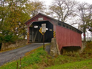 National Register of Historic Places listings in Montour County, Pennsylvania - Image: G Brown Covered Bridge Montour Co