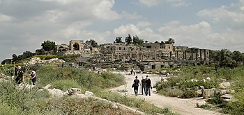 English: Site of Gadara (Umm Qais), Jordan Fra...