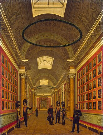 Military Gallery of the Winter Palace - The Military Gallery of the Winter Palace, painted by Grigory Chernetsov, 1827