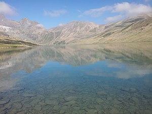 Gangabal Lake - Gangbal Lake at the foot of Harmukh