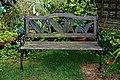 Garden bench in Nuthurst, West Sussex, England 1.jpg