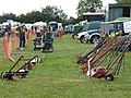 Garden tools on display at Bolnhurst Country Show - geograph.org.uk - 1372474.jpg