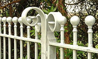Curlicue - Image: Gate and fence, Inch near Downpatrick (2) geograph.org.uk 1201910