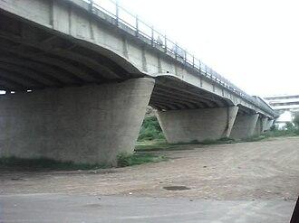Gateway to the Americas International Bridge - View of the bridge from below