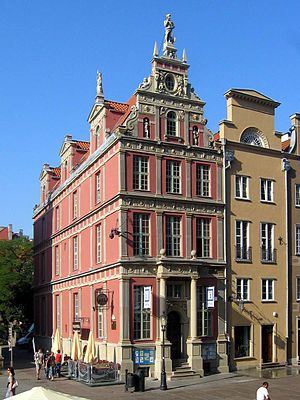 Long Lane, Gdańsk - Schumann tenement, Long Lane 45, is masterpiece of Dutch architecture in Gdańsk.
