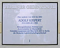 Gedenktafel Alt-Marienfelde 17-21 (Marif) Adolf Kiepert.JPG