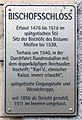 Gedenktafel Domplatz (Meißen) Bischofschloss.jpg