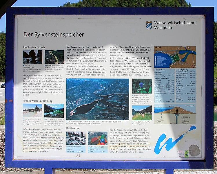 File:Gedenktafel Sylvenstein (Lenggries) Der Sylvensteinspeicher.jpg