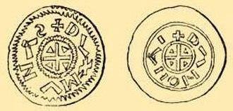 Géza I of Hungary -  Duke Géza's half-denars