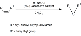 Jacobsen epoxidation - Image: General Jacobsen reaction