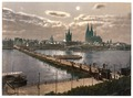 General view, by moonlight, Cologne, the Rhine, Germany-LCCN2002714083.tif