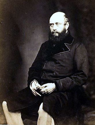 Prince George, Duke of Cambridge - Collodion of Prince George, 1855, by Roger Fenton