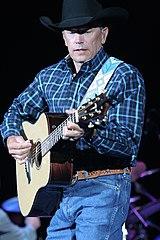 George Strait on stage