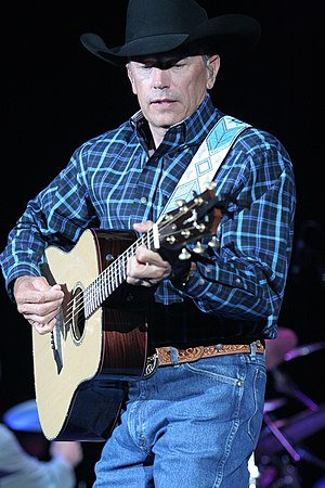 George Strait performing